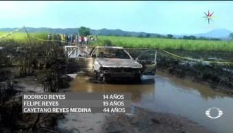 noticias, televisa news, Explosion, derrame de combustible, mata a familia, Veracruz