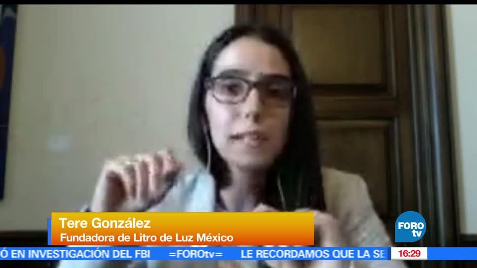 noticias, FOROtv, Litro de Luz México, Teresa González, energía sustentable, Litro de Luz