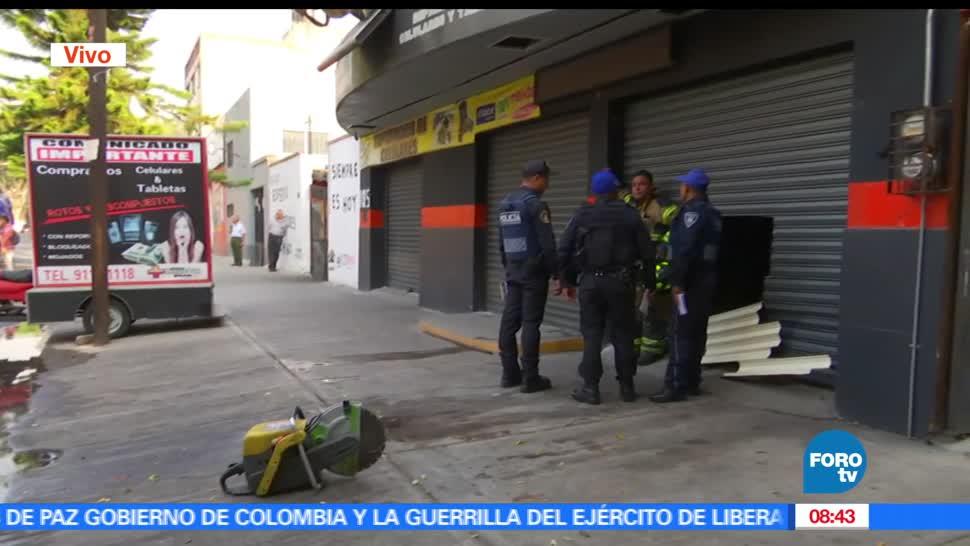 noticias, forrtv, , Controlan incendio, local comercial, Ciudad de México