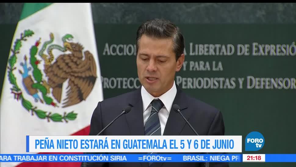 EPN, realizará, visita oficial, Guatemala, Presidente de México, Gira de trabajo