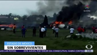 Estado de México, avión tipo Lear Jet 25, inmediaciones del Aeropuerto, sobrevivientes