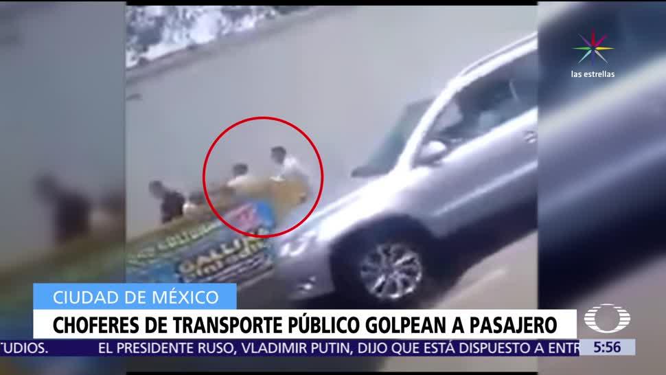 Choferes de la ruta 66, Ocotal, Miguel Ángel de Quevedo, CDMX, golpean a usuario