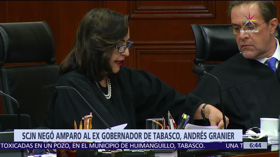 SCJN, niega amparo, exgobernador de Tabasco, Andrés Granier