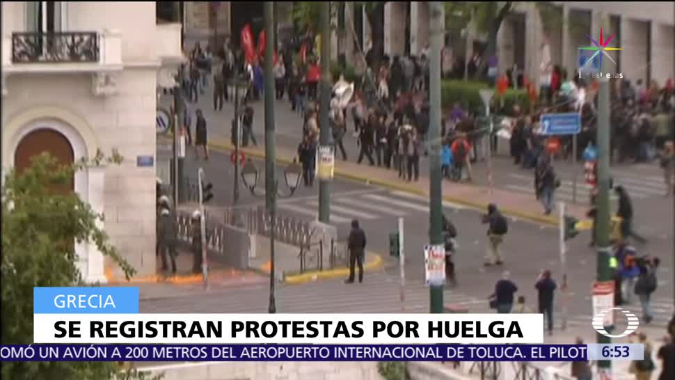 Trabajadores de Grecia, huelga, medidas de austeridad. gobierno