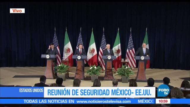 Luis Videgaray, Miguel Ángel Osorio Chong, Rex Tillerson, John Kelly, Washington