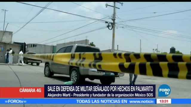 notiias, FOROtv, Alejandro Marti, defiende, soldado, ejecucion en Puebla