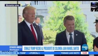noicias, FOROtv, Trump recibe a Santos en la Casa Blanca