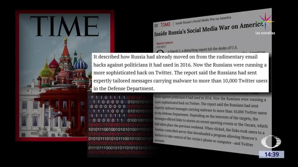 noticias, Noticieros Televisa, Nueva, forma, hackeo ruso, Time