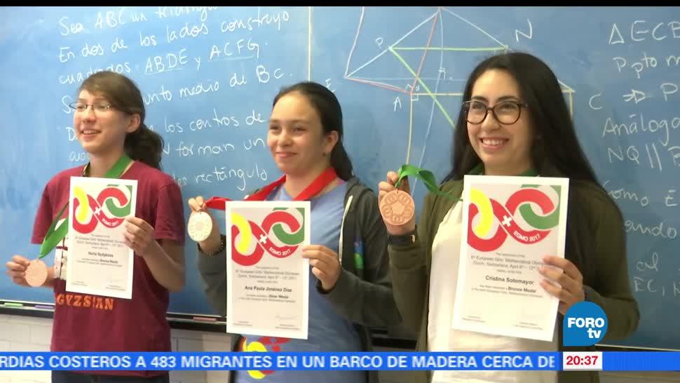 mexicanas, campeonas, Olimpiada, Matemáticas, Europa, 2017