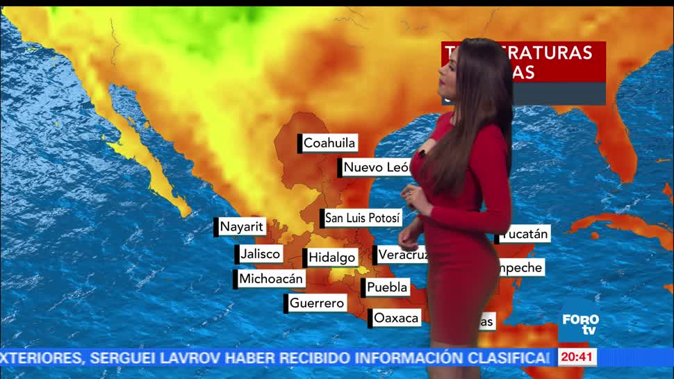 El Clima, condiciones climatológicas, Mayte Carranco, viernes, lluvia, calor