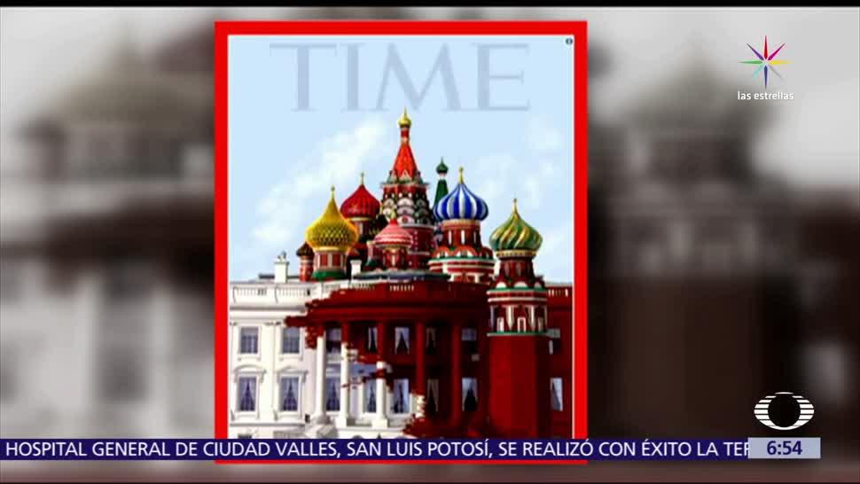 Time, ilustra, affaire, Trump-Rusia