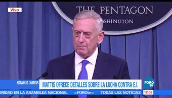 El secretario de Defensa de EU, James Mattis, Estado Islámico, aniquilar