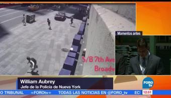 Mujer atropellada, Times Square, reportan, autoridades