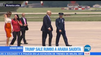 noticias, FOROtv, Trump, parte, Arabia Saudita, Air Force One