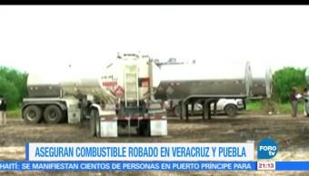 PGR, asegura, litros de hidrocarburo, Veracruz y Puebla, combustibles, huachicoleros