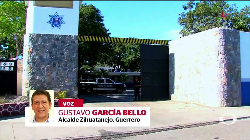 policías, detenidos, no eran civiles, armados, alcalde, Zihuatanejo