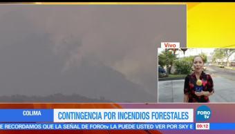 Contingencia ambiental, Colima, incendios forestales, Autoridades