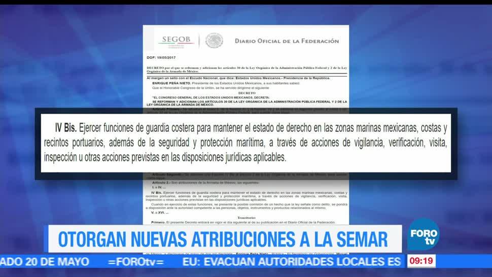 Reforma, nuevas atribuciones, Secretaría de Marina, Armada de México