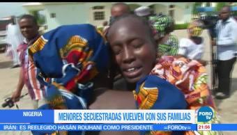 En Nigeria, menores secuestradas, vuelven, familias, estudiantes, boko haram