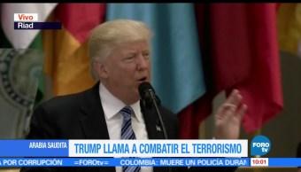 presidente Trump, extremismo, islamista, Cumbre Árabe-Islámica