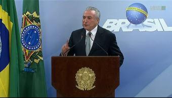 manifiestan, Brasil, renuncia, Michel Temer