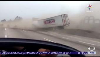 tráiler, frenos, México-Puebla, rampa de emergencia