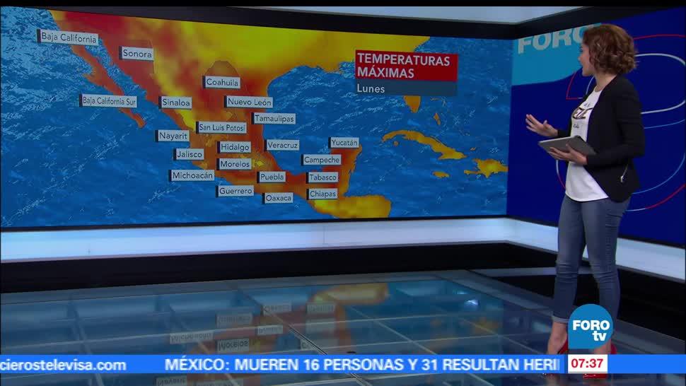 Canales de baja presión, lluvias, República mexicana, Ciudad de México