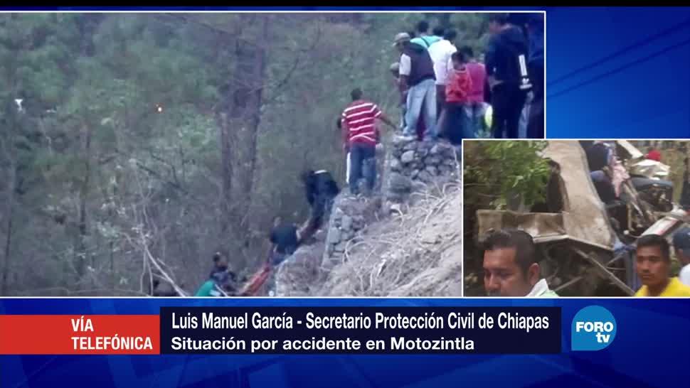 Luis Manuel García, Protección Civil, Chiapas, personas, caída de autobús