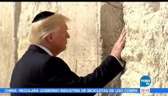 Trump, Muro de los Lamentos, primer presidente estadounidense, sagrado del judaísmo