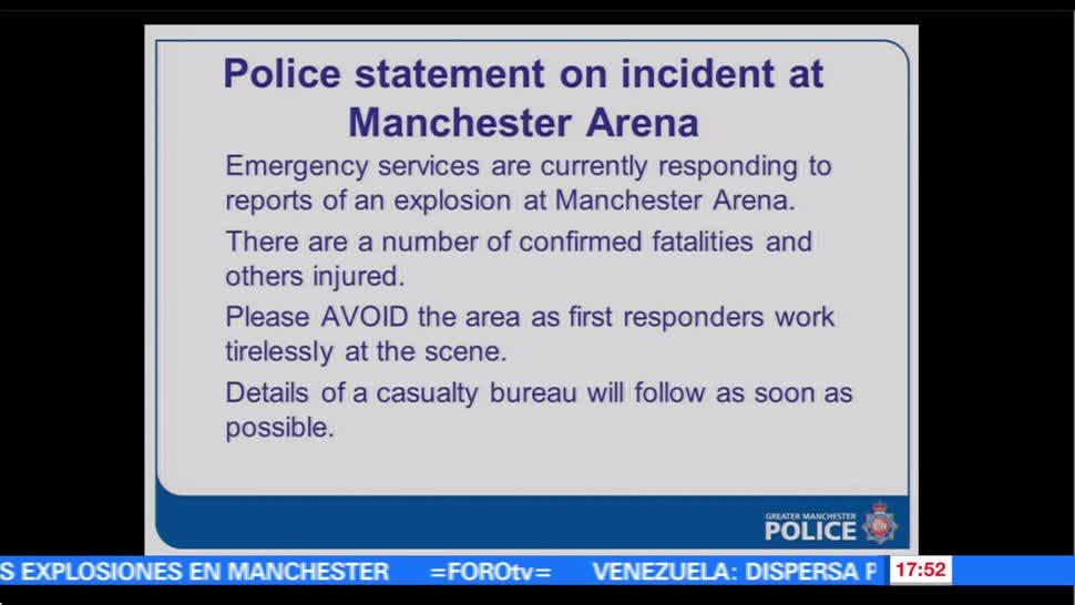 Explosiones, Manchester Arena, deja varios, lesionados