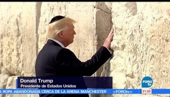 noticias, forotv, Donald Trump, visita, Israel, Muro de los Lamentos