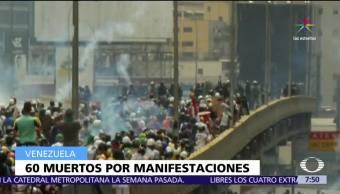 60 muertos, 52 días, protestas, gobierno de Nicolás Maduro, Venezuela
