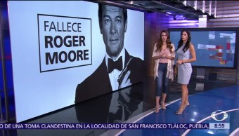 actor Roger Moore, agente James Bond, Suiza, cáncer