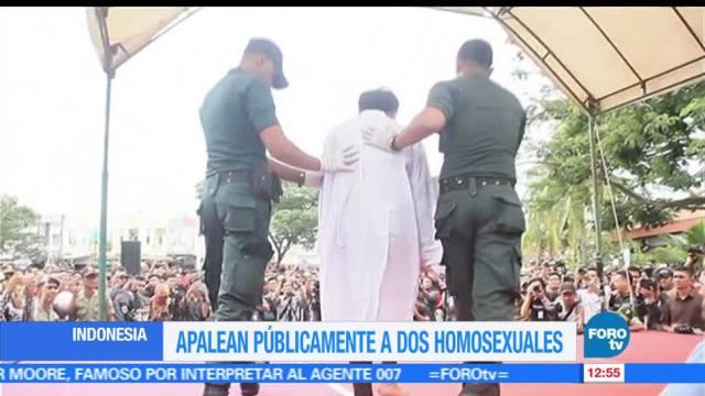 Apalean, públicamente, homosexuales, Indonesia