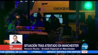 Realizan vigilia, víctimas, Manchester, Horacio Rocha