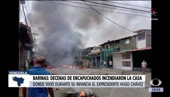 Incendian, casa, Hugo Chávez, Barinas