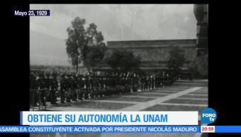 noticias, forotv, Efemeride, En Una Hora, UNAM, Universidad Nacional de México