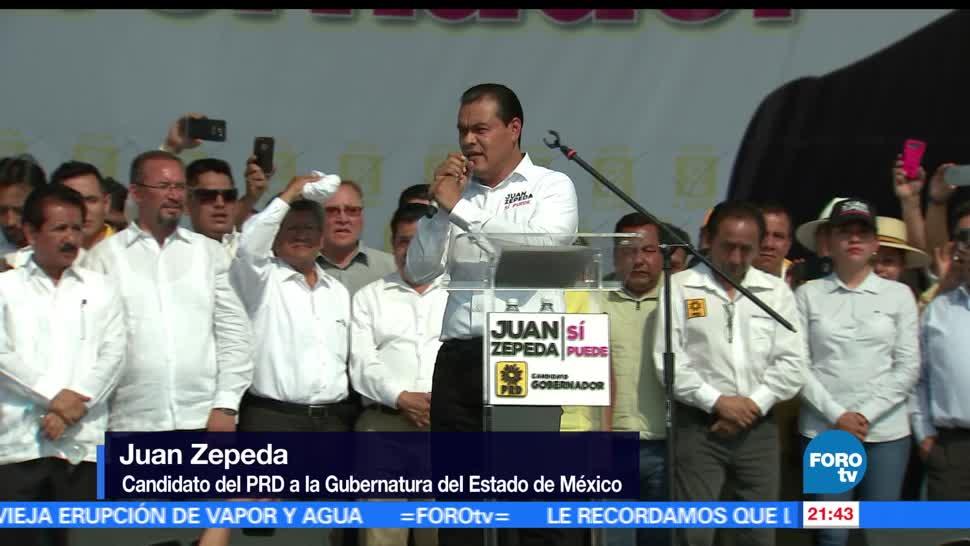 noticias, forotv, Juan Zepeda, visita, Nezahualcóyotl, candidato del PRD