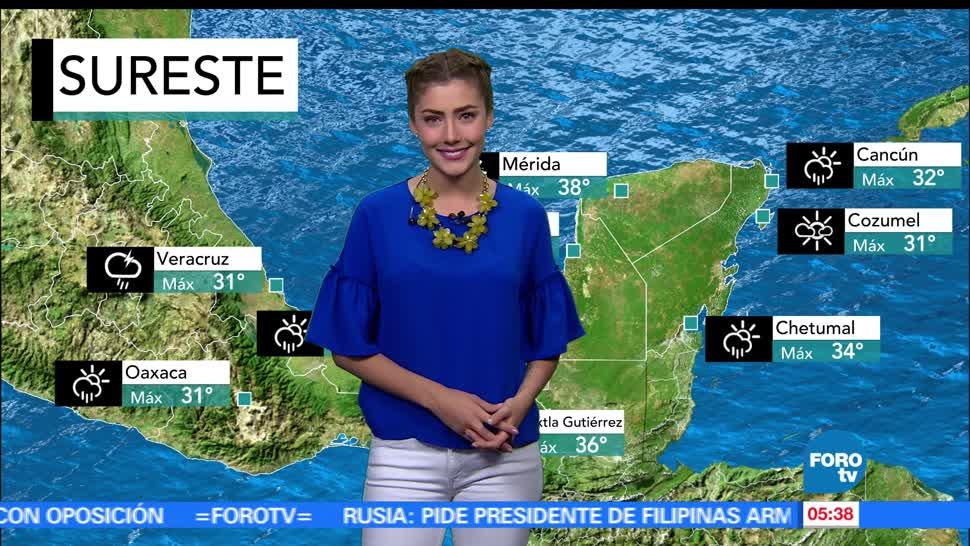 frente frío, lluvias, temperaturas altas, República Mexicana