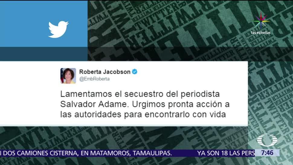Roberta Jacobson, embajadora de EU, México, periodista Salvador Adame
