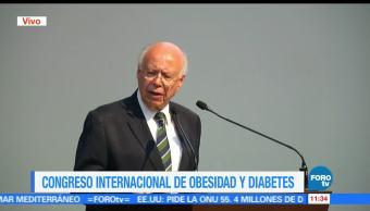 secretario de Salud, José Narro Robles, inauguración, Congreso Internacional, Obesidad y Diabetes, Ciudad de México