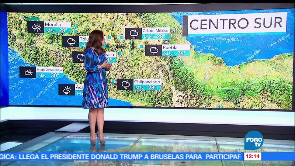 Ciudad de México, temperatura máxima, probabilidad, lluvia y granizo