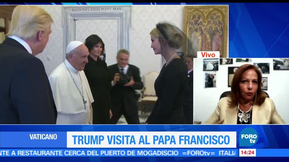 noticias, forotv, papa, gesto serio, Trump, papa francisco