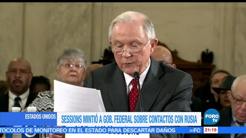 Jeff Sessions, mintió, contactos, Rusia, CNN, revela