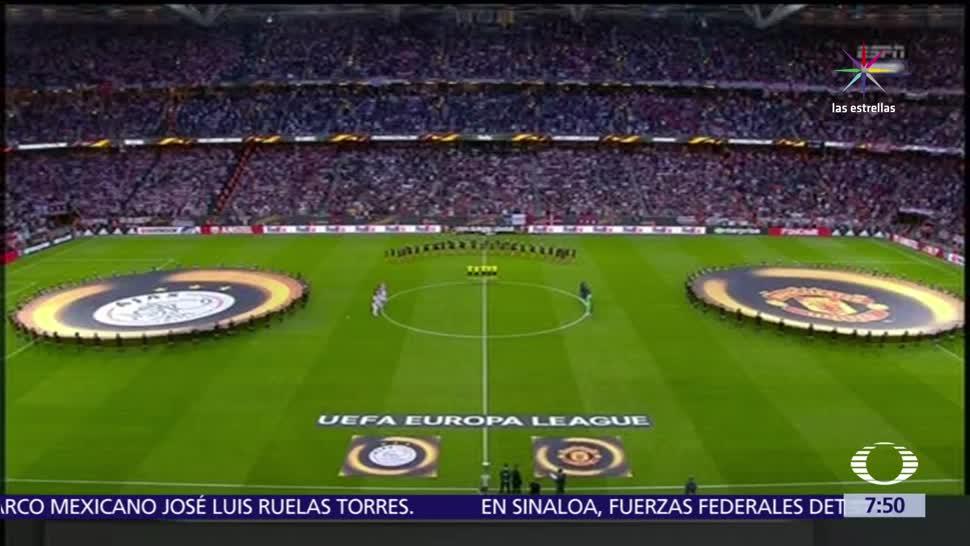 Aficionados, víctimas de Manchester, minuto de silencio, Ajax, Manchester United