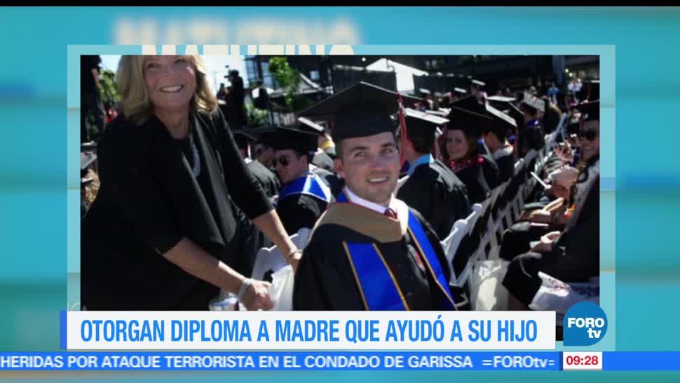 universidad en California, diploma, madre, estudiante tetrapléjico