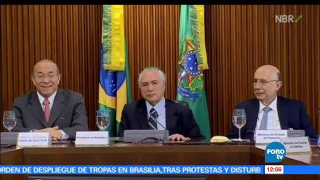 presidente de Brasil, Michel Temer, soldados, jornada violenta