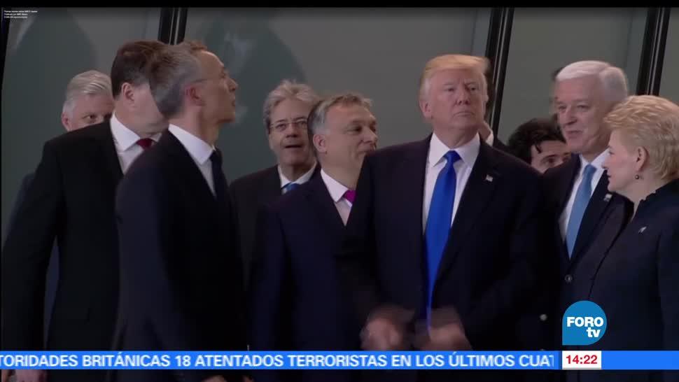 noticias, forotv, Trump, avienta, primer ministro de Montenegro, Cumbre OTAN