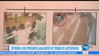 noticias, forotv, Capturan, ladrones, tienda de autoservicio, Tlalpan