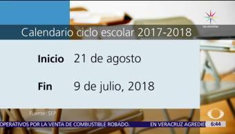 Calendario, escolar, 2017-2018, agosto
